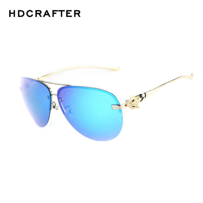 ee0b92d651d HDCRAFTER Luxury Brand Sunglasses Women Coating Polaroid Lens Polarized Sun  Glasses For Men Women Rimless