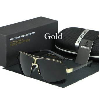 HDCRAFTER ผู้ชายแว่นตากันแดดย้อนยุคโพลาไรซ์ผู้ชาย Ovesized เสื้อหรูหรายี่ห้อนักออกแบบกระจกเงาแว่นตากันแดดผู้ชายแว่นตากันแดด Oculos ชาย LE028 - นานาชาติ-