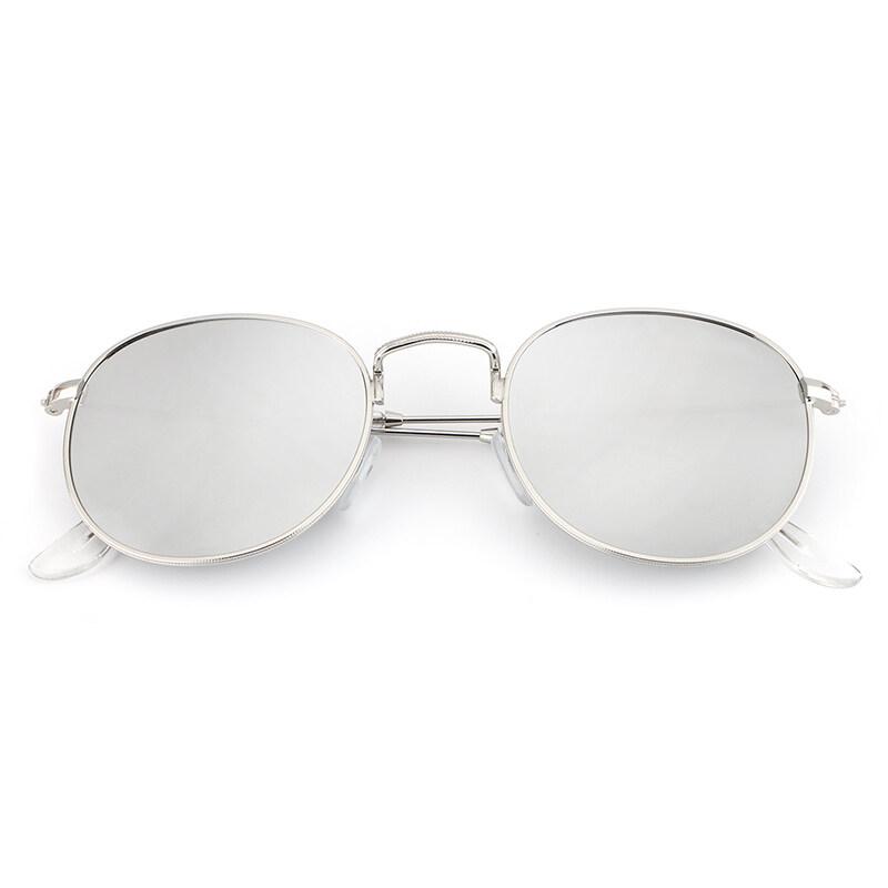0066fad089a HDCRAFTER Mirror Lens Round Retro Vintage Sun Glasses for Women Driving  Sunglasses Women Brand Designer Metal