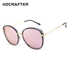 9ef6a227f4 HDCRAFTER New Lady s Fashion Personality Features Brief Sunglasses Trend  Same Style Ink Mirror H028