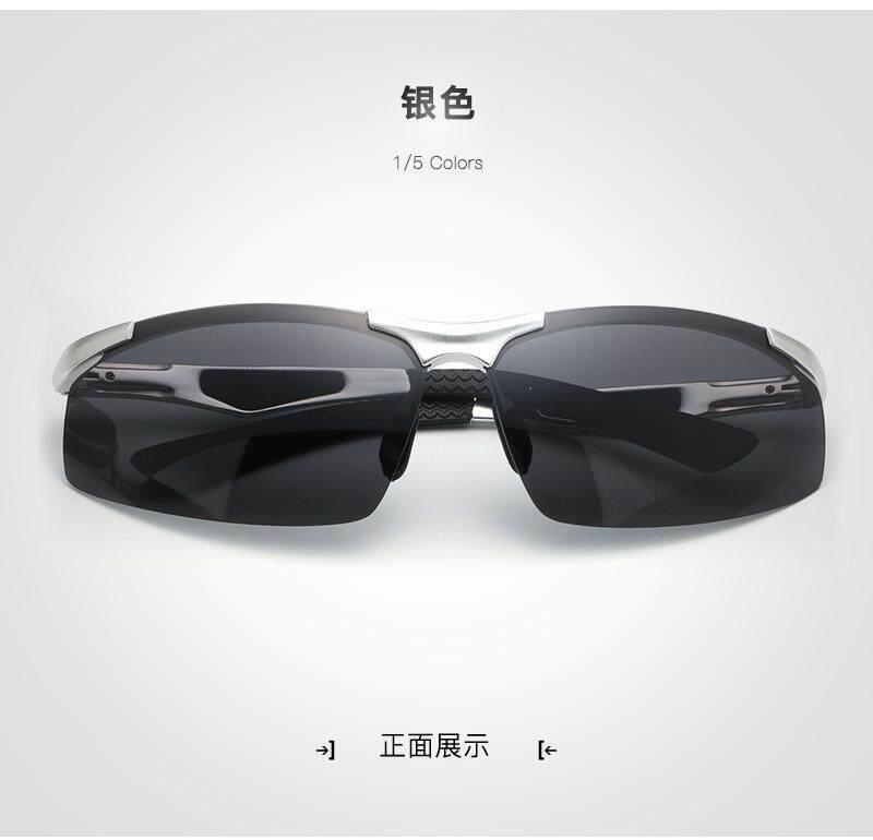 Baru Kacamata Hitam Terpolarisasi Pria Tanpa Bingkai Aluminium Magnesium  Olahraga Mengemudi dan Naik Kacamata Pria Kacamata 07b047a19e