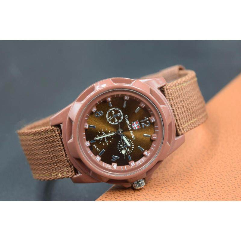 HengSong mans  Sports wrist watch Braided strap gem Brown Malaysia