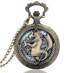 High Quality Full Metal Alchemist Dull Polish Pocket Watch Mens Quartz Watch Malaysia
