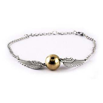 High Quality Store New Harry Potter Inspired Bracelet Snith Deathly Hallows Wing Fashion Jewelry-