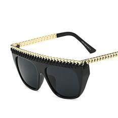 High Quality Women Brand Designer Fashion Flat Top Sun Glasses Men Glasses Oversize Vintage Sunglasses Big Square Oculos By Angel Store.
