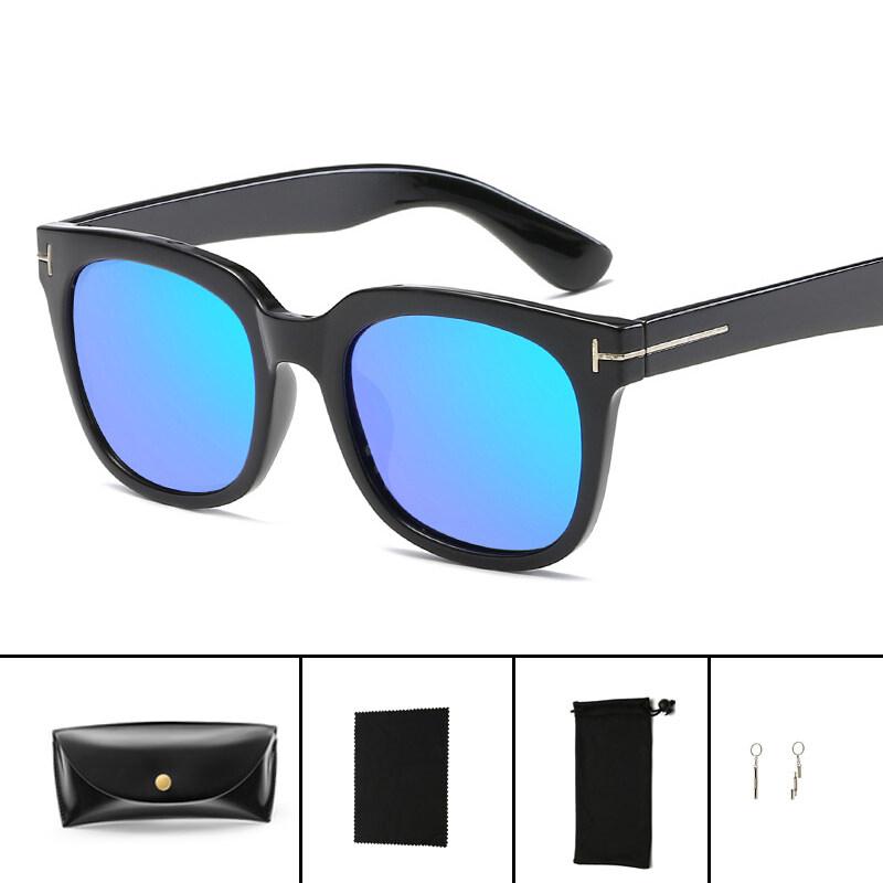 Hindfield 005 Desain Merek Wanita Sunglasses Fashion Pria TR90 Bingkai Sun Glasses Retro Reflektif Kacamata Oculos