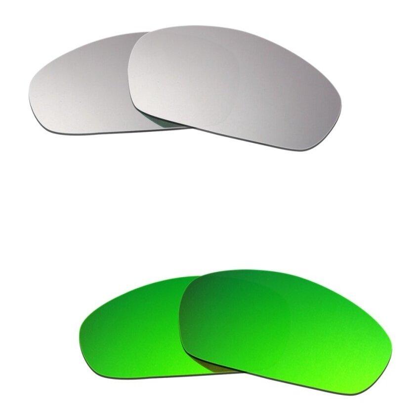 Hkuco Pria Lensa Pengganti untuk Model Jaket Lurus (2007) Titanium/Emerald Kacamata Hijau-Intl