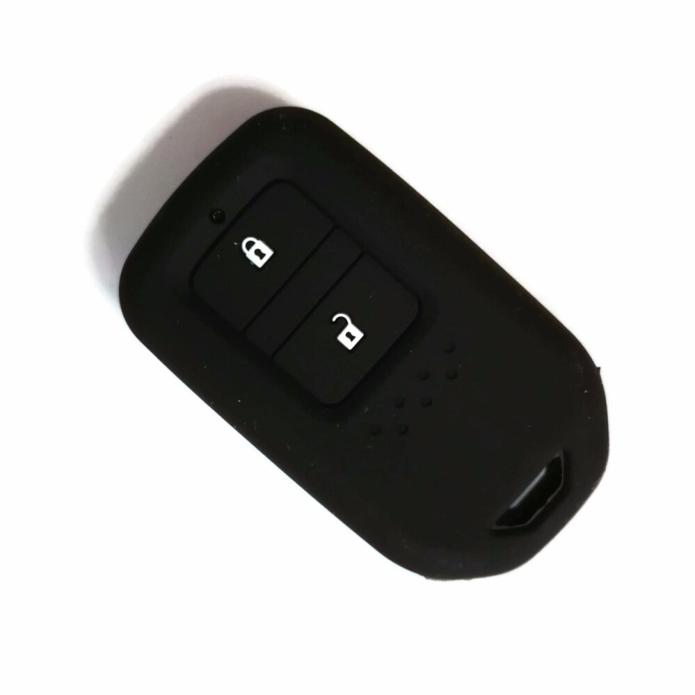 2 Pcs Silicone Car Key FULL Cover Casing Compatible with Honda HRV BRV Jazz CRV 2014-2018 Keyless Remote - intl