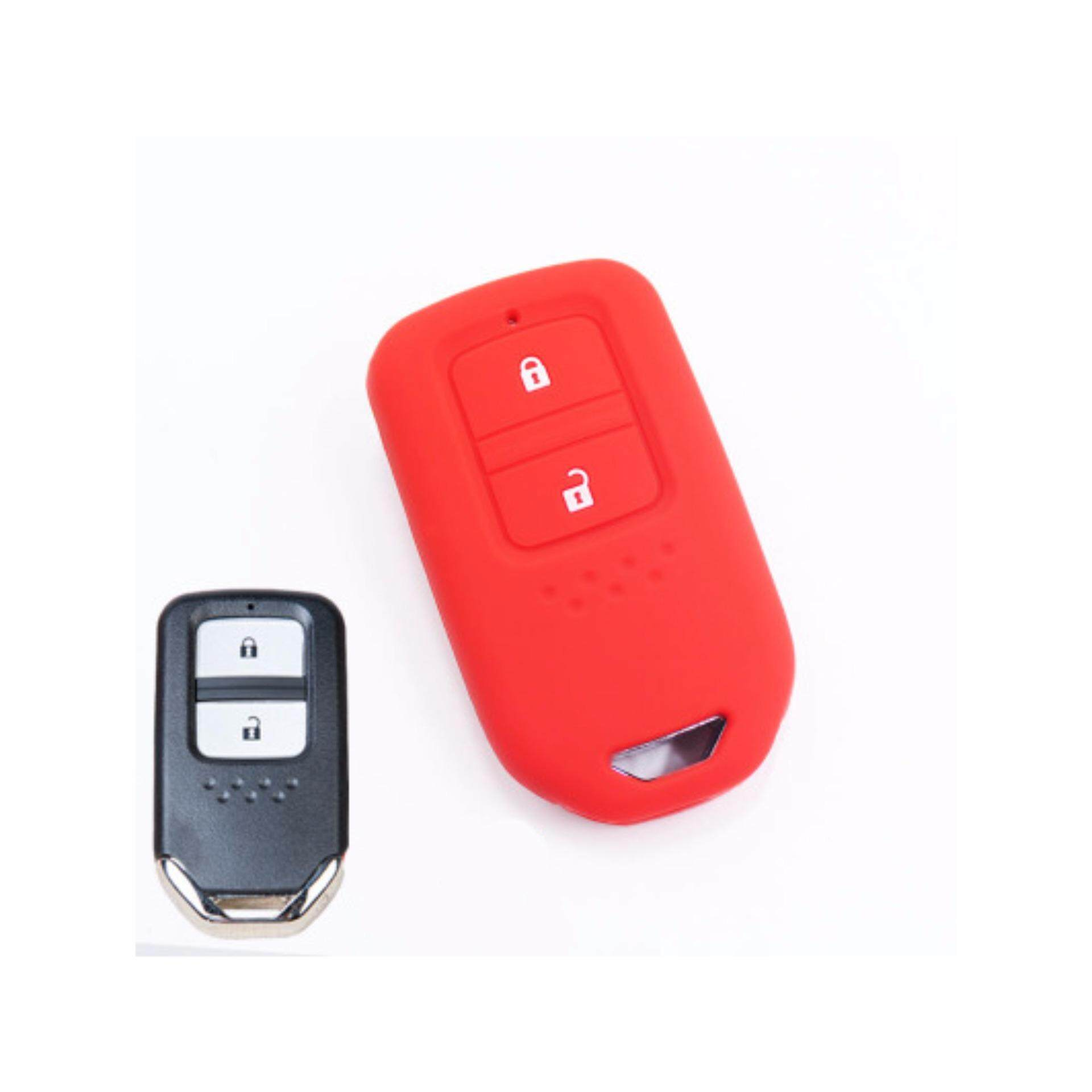 2 Pcs Keyless Remote Silicone Car Key FULL Cover Casing for Honda HRV BRV Jazz CRV 2014-2018 - intl