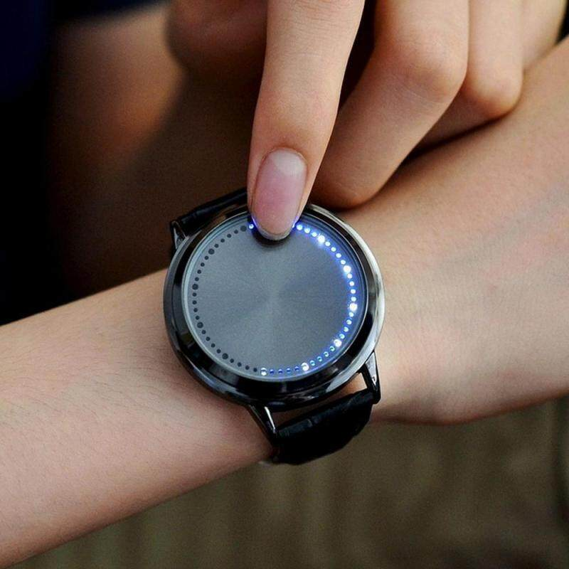 HOSdog Creative LED Watch Personality Blue Light Touch Screen Wristwatch For Couples Lovers Malaysia