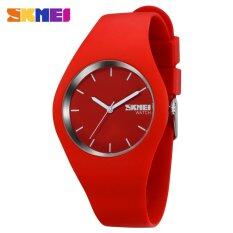 Hot Sale Boy and Girls Fashion Color Sports Silicone Waterproof Wrist Watches-Red Malaysia