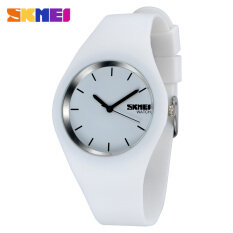 Hot Sale Boy and Girls Fashion Color Sports Silicone Waterproof Wrist Watches-White Malaysia