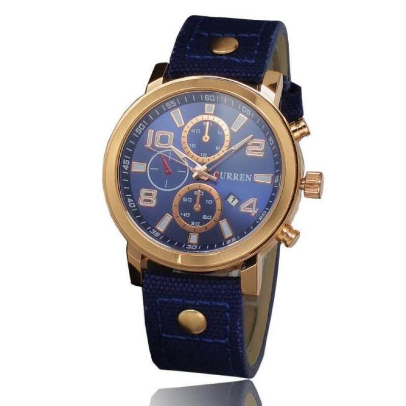 Hot Sale!CURREN Business Sport Military Canvas Waterproof Quartz Brand Wrist Watch BU Malaysia