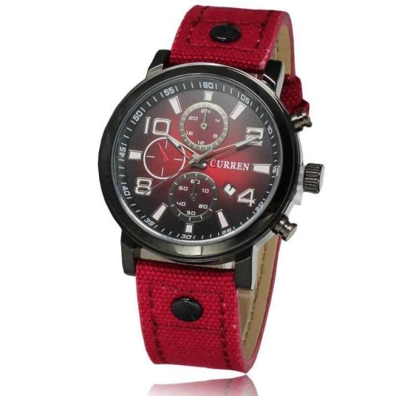 Hot Sale!CURREN Business Sport Military Canvas Waterproof Quartz Brand Wrist Watch RD Malaysia