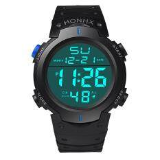 Hot Sale!Fashion Waterproof Mens Boy LCD Digital Stopwatch Date Rubber Sport Wrist Watch Malaysia