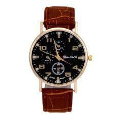 Hot Sale!Mens Leather Band Analog Quartz Business Wrist Watch Brown Malaysia