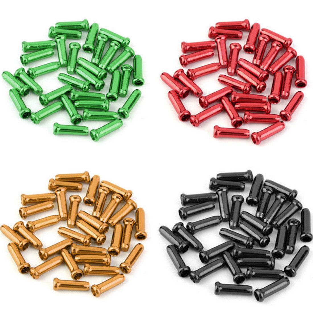 Seksi Jual 10 Pcs Aluminium Paduan Sepeda Sepeda Rem Kabel Tips Crimps Sepeda Derailleur Shift Akhir Topi Inti-Internasional