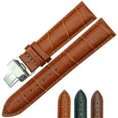 Hot Sell Genuine Calf Leather Watch Strap band 18 mm Butterfly Pattern Deployant Clasp Buckle Malaysia