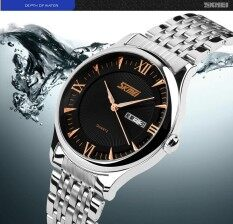 SKMEI Hot  Men Watches Top Brand Luxury Men Stainless Steel Male Clock Wristwatch Quartz Sport Dress Mens Watches Reloj Para Hombre 9091G Malaysia