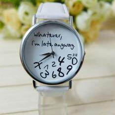 Hot Women Leather Watch Whatever I am Late Anyway Letter Watches New Malaysia