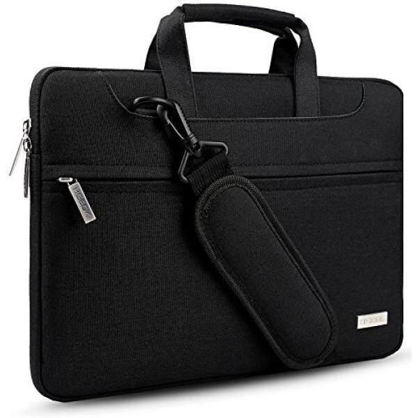 Hseok HSEOK 14 - 15.6 Inch Laptop Shoulder Bag Briefcase for 15 MacBook Pro 2016 / 14 - 15 ASUS Acer Lenovo Dell HP Toshiba Chromebook Computers Protective Case Cover Bag Handbag,Black - intl