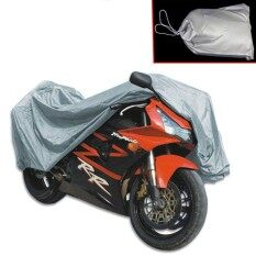 HUADE New Universal Motorcycle Cover Waterproof Outdoor Sun UVProtection  Car Covering Bike Motor Silver Tractor Fabric CoatingRain