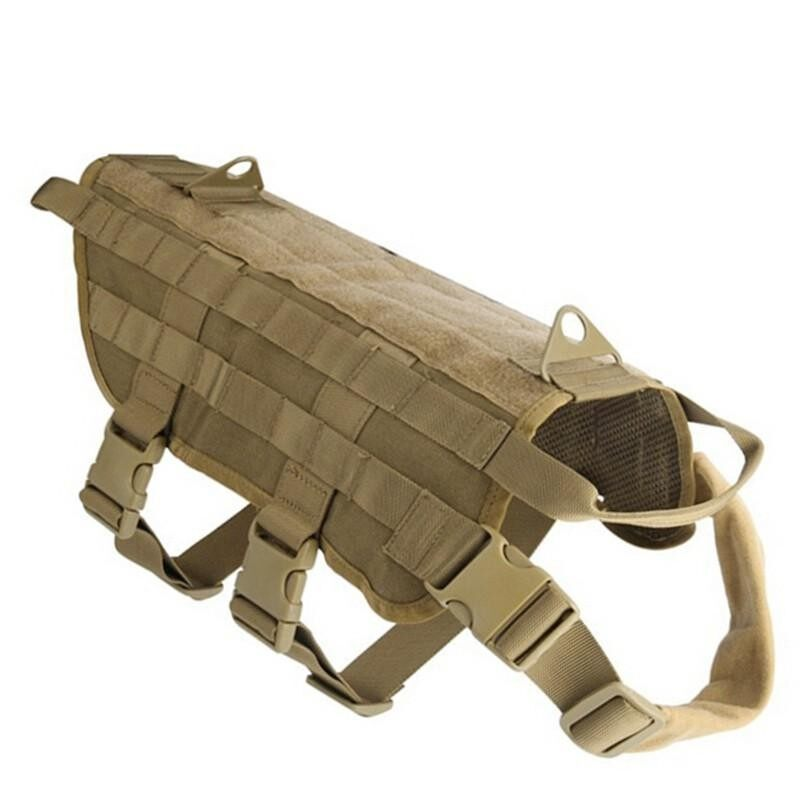 Hunting Military Tactical Patrol Dog Vest Training Harness Law Enforcement Airsoftsports Gear M - Intl By Teamwin.