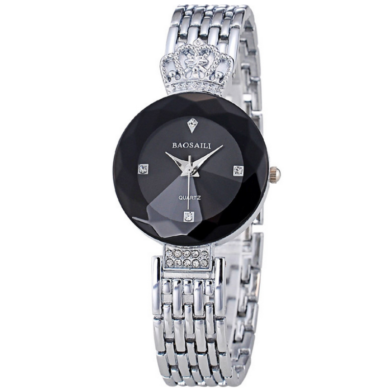 [Imported] Quartz Rose Gold Wrist High Class Trendy Fancy Watch - Black Malaysia