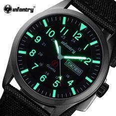 INFANTRY Brand Men Fashion Casual Watches Men Sport Military Quartz Analog Date Luminous Wristwatch Nylon Relogio