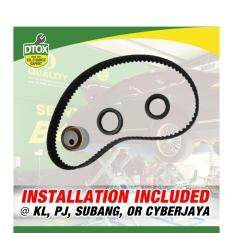 (installation Included) Gates Timing Belt Kit For Saga Blm By Dtox Car Service.