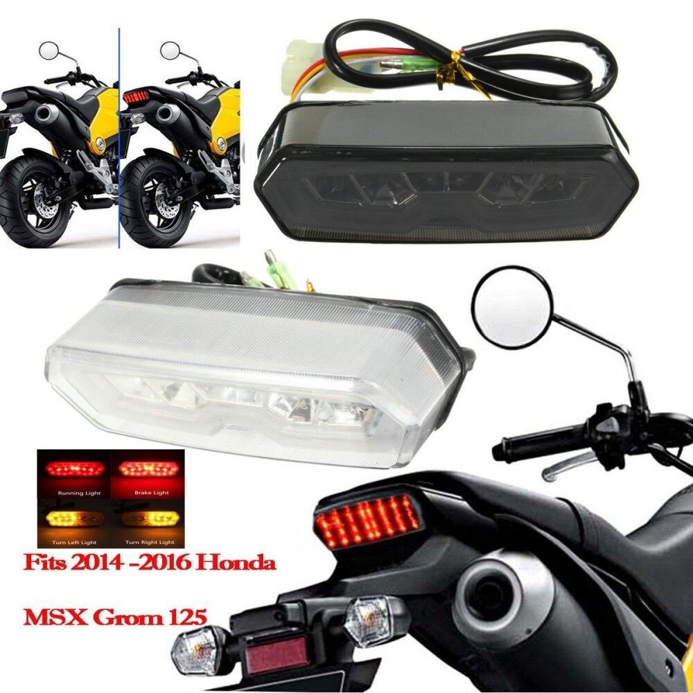 Motorcycle LED Tail Light Running Stop Brake Rear Warning for MSX125 CBR65JO