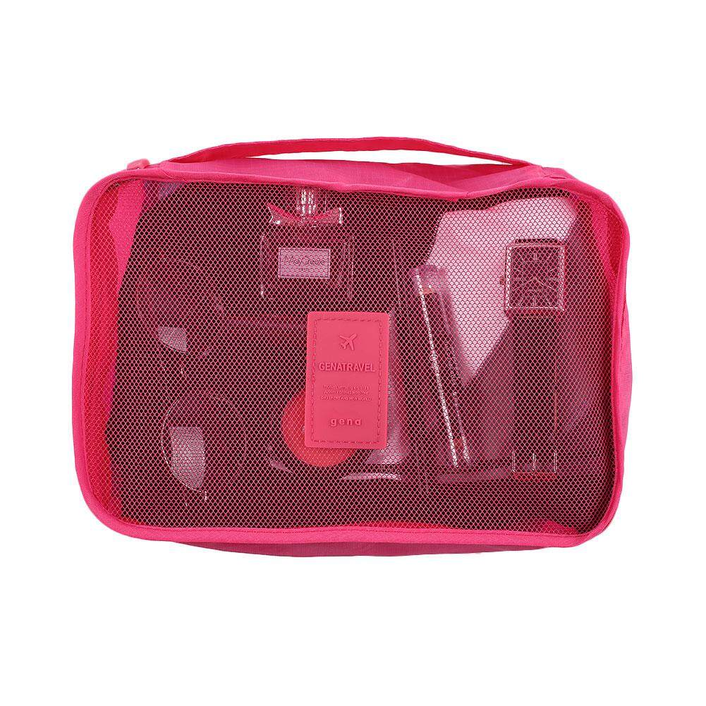 ISeason Mall 6Pcs Clothes Socks Storage Carrying Bags Pouch Packing Cube Travel Home Luggage Watermelon red