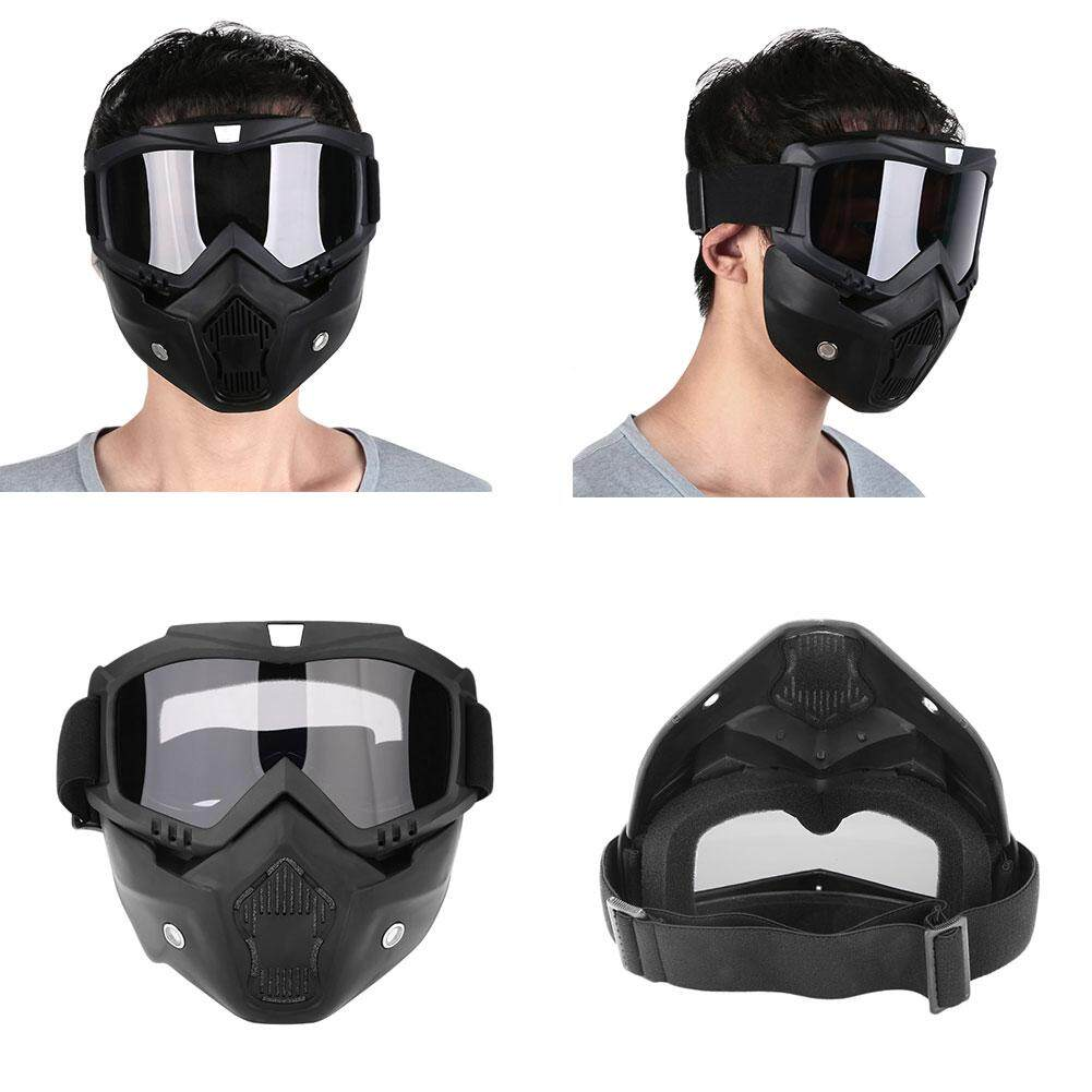 ISeason Mall Modular Detachable Goggles And Mouth Filter Open Face Motorcycle Half Helmet - intl