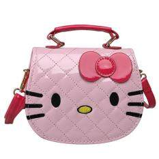 Kids Girls Child Cute Cat Kitty Pu Leather Shoulder Bag Handbag Messenger Bag.