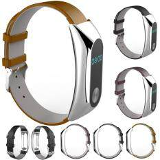 Luxury Genuine Leather Watch Strap Bracelet Wrist Band For Xiaomi Mi Band 2 bán chạy