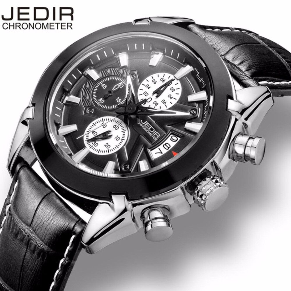 JEDIR Mens Watches Top Brand Luxury Men Sport Chronograph 6 Hands Date Function Casual Quartz Watch Diver Hour