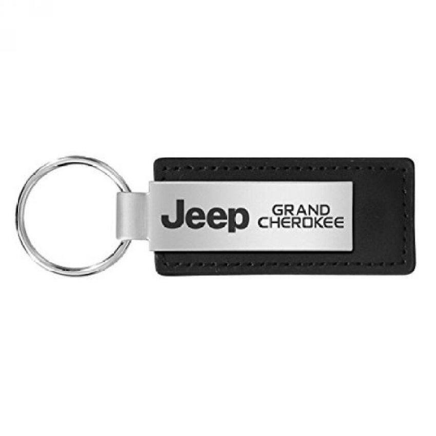 Jeep Grand Cherokee Besar Kulit Hitam Gantungan Kunci-Internasional