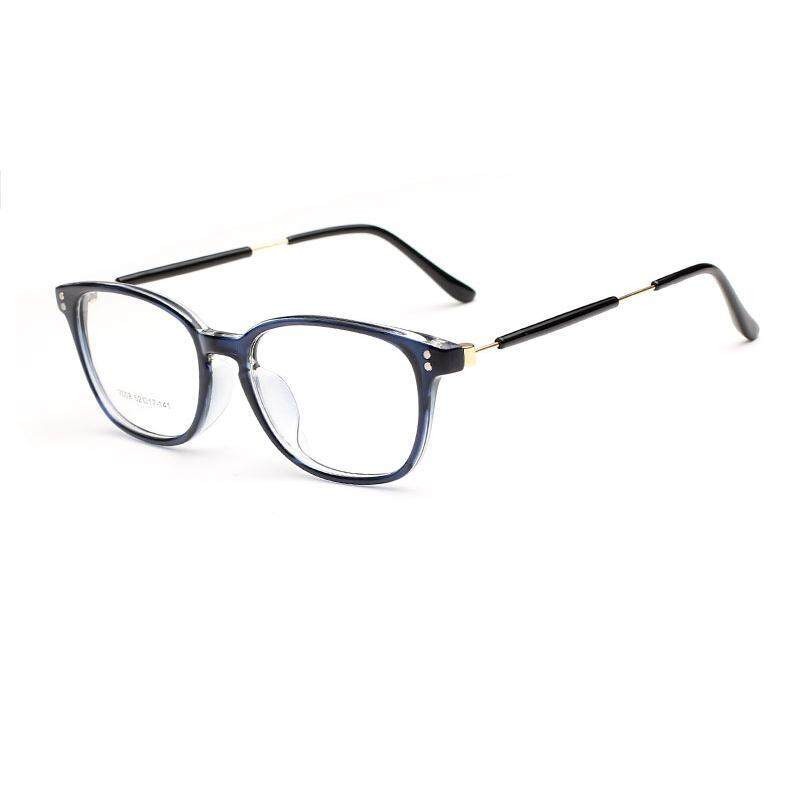 a7dafe6049 JINQIANGUI Fashion Glasses Frame Rectangle Glasses Blue Frame Glasses  Plastic Frames Plain for Myopia Men Eyeglasses