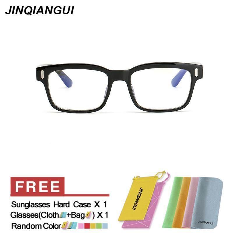 5d00ac73c5b JINQIANGUI Fashion Glasses Frame Rectangle Glasses BrightBlack Frame Glasses  Plastic Frames Plain for Myopia Men Eyeglasses