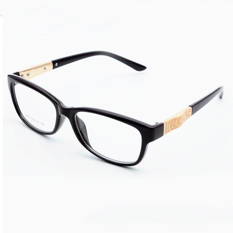 6ed52a5ba37 JINQIANGUI Fashion Glasses Frame Rectangle Glasses BrightBlack Frame  Glasses Plastic Frames Plain for Myopia Men Eyeglasses