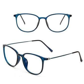 24c14e8fac5 JINQIANGUI Fashion Glsses Frame Square Glasses Blue Frame Glasses Plastic  Frames Plain for Myopia Men Eyeglasses