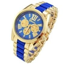 Jo.In Menswear Quartz Full Steel Watch Women Watches Casual Dress Ladies Wrist Watch Gold Dial Alloy Watch (Blue) Malaysia