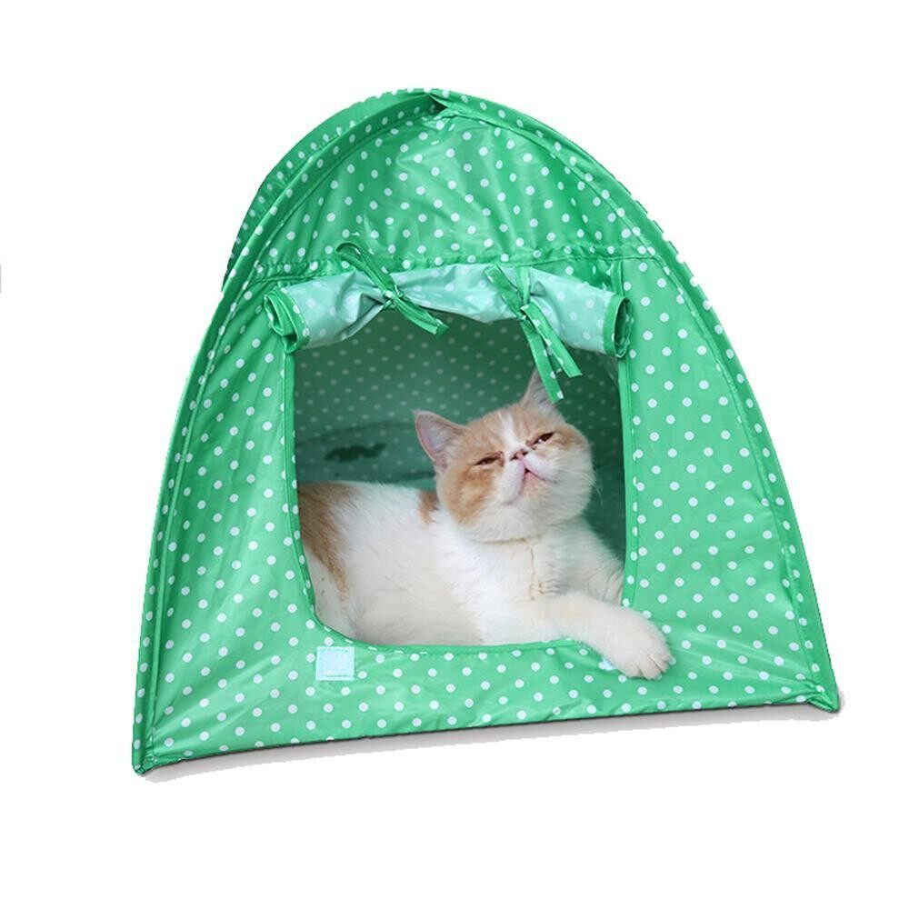 Kacoo Foldable Cute Dots Cat Houses Portable Travel Outdoor Indoor Pet Tent For Kitty Or Small Dog - Intl By Kacoo.