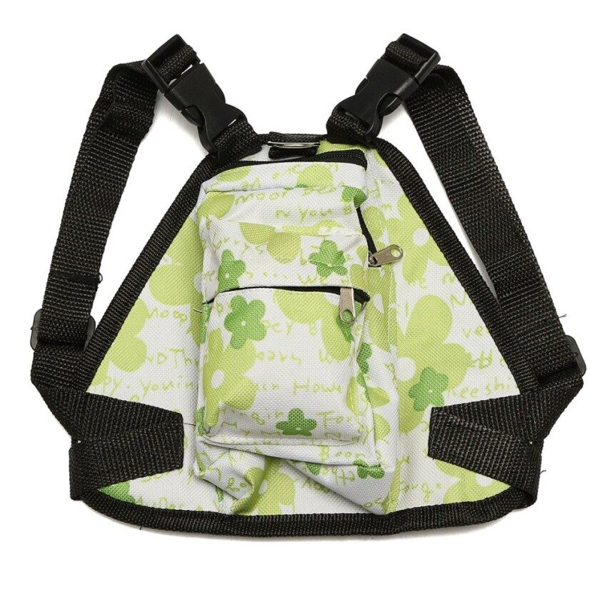 KAT XIN STORE High quality Cute Dog Backpack & Leash Pet Bag Travel Carrier Outdoor PuppyGreen