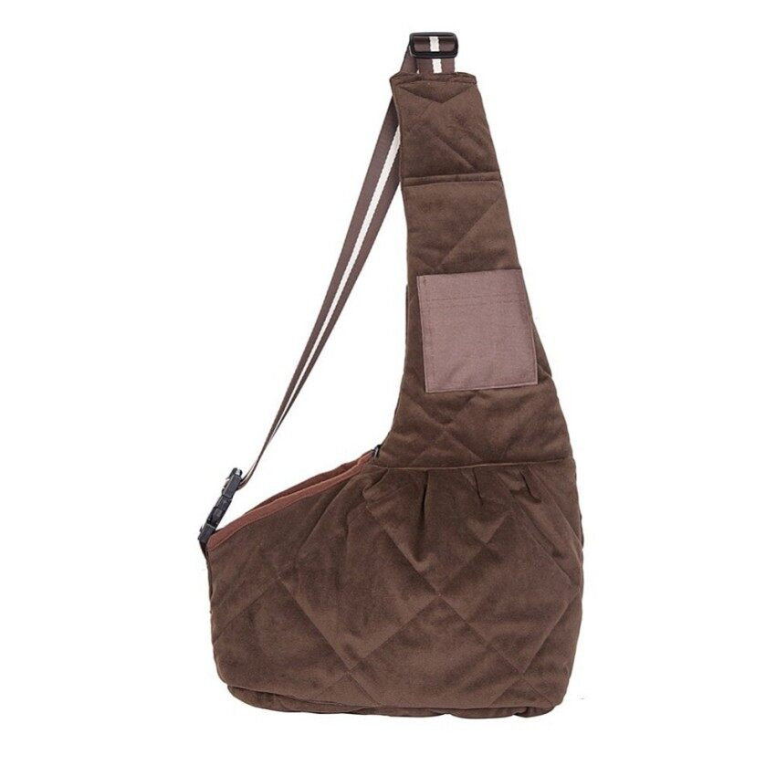 KAT XIN STORE High quality Oxford Cloth Pet Sling Carrier Bag Brown S - intl