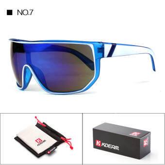 KDEAM ผู้ชายผู้ชายแว่นตากันแดด  แฟชั่นฤดูร้อนขนาดใหญ่กรอบผู้หญิงบานพับโลหะ Oculos De SOL UV400 ด้วย 100 - นานาชาติ-