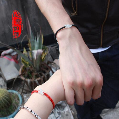 [Keep Tangan Anak] Emas Hanya Knotted Ini Kehidupan 12 Cina Zodiak Tanda Ular Giok Tiongkok untuk Simpul Merah Tali Gelang Pria Lovers untuk Tahun-Internasional