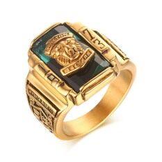 Kemstone Cincin Berlapis Emas Unik Bergaya Retro 1973 Motif Harimau Untuk Pria By Kemstone Jewelry.