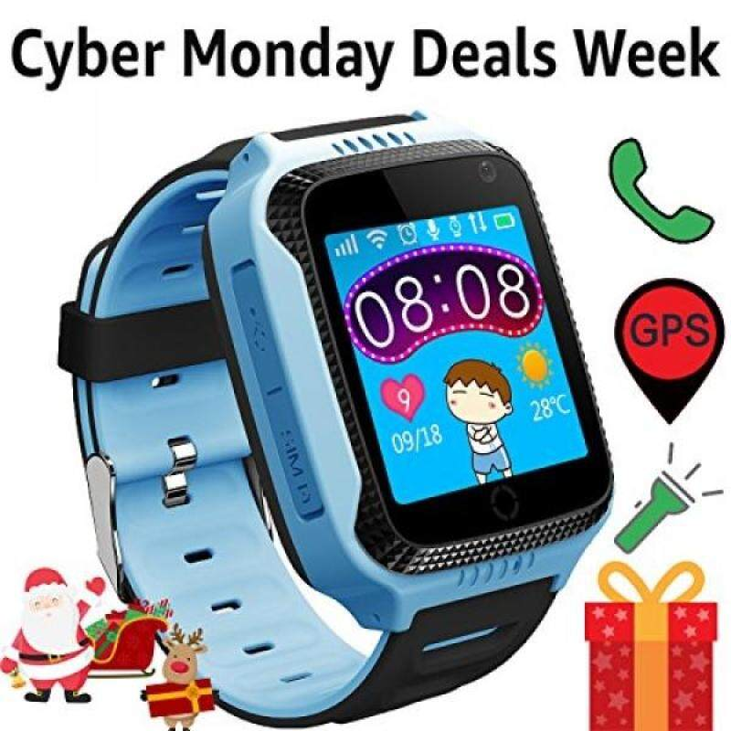 Kids Smart Watch with Camera GPS Tracker for Boys Girls Maths Game Alarm Clock Cell Phone Call Children Learning Wrist Watches Wearable Bracelet Compatible with Android iPhone (01 G3S Blue) Malaysia