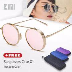db6a51509b KIMI Womens Round Sunglasses Fashion Modern Design Alloy Frame Brands  Designer Colorful Gradient Mirrored Lenses Driving